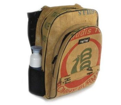 Ragbag backpack van theezakken