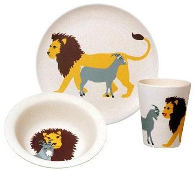 zuperzozial leeuw kinderservies