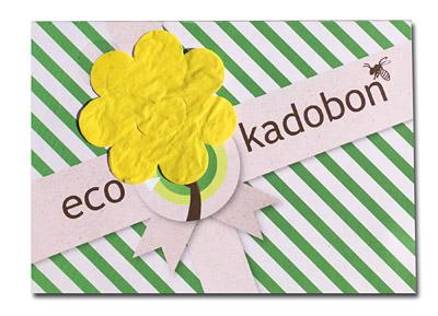 ecokadobon met bloemetjespapier
