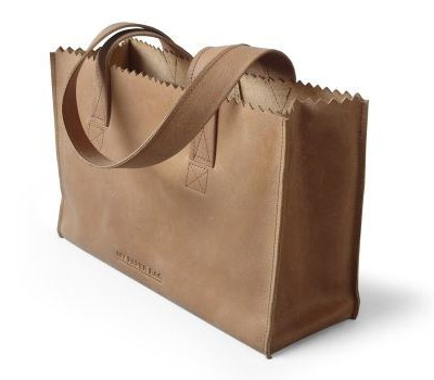 my paper bag handbag dark chocolat