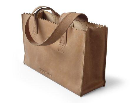 my paper bag handbag dark chocolat