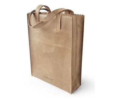 paper bag long handle blond