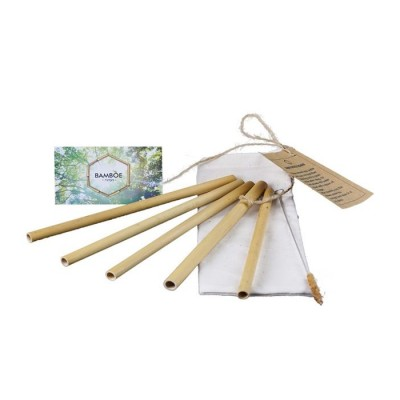 herbruikbare rietjes van bamboe