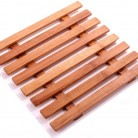 duurzame pan pan onderzetter van bamboe